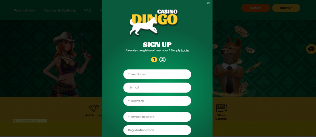 dingo sign up step by step -2