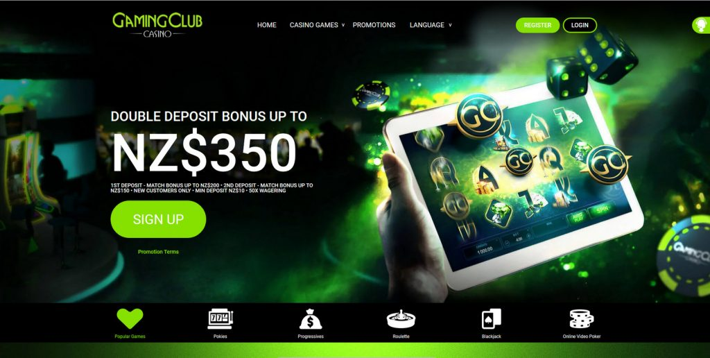 gaming club casino sign up